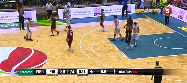 Gilas Pilipinas def. Qatar, 80-74 (REPLAY VIDEO)  FIBA Asia Cup 2017 | August 13