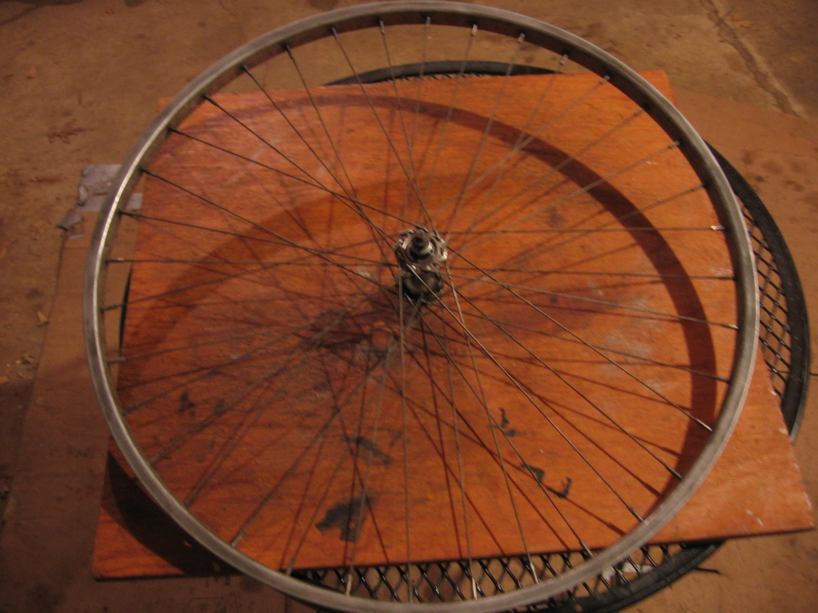 dc862e270af The Bike Shed  Mounting A Tire and Reflector