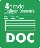 Examen Bloque I Cuarto grado Ciclo Escolar 2015-2016