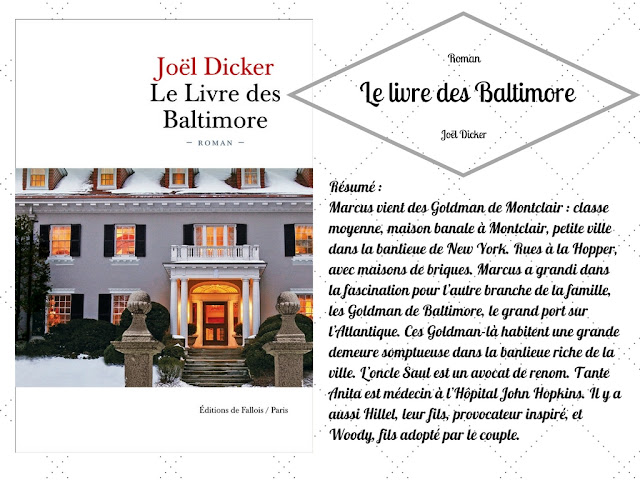 Joël Dicker Le livre des Baltimore