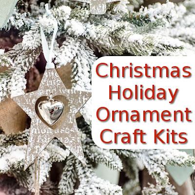 craft kits to make christmas tree ornaments for the Holiday season