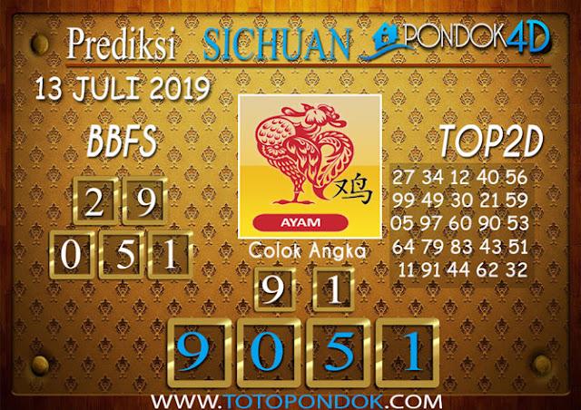 Prediksi Togel SICHUAN PONDOK4D 13 JULI 2019