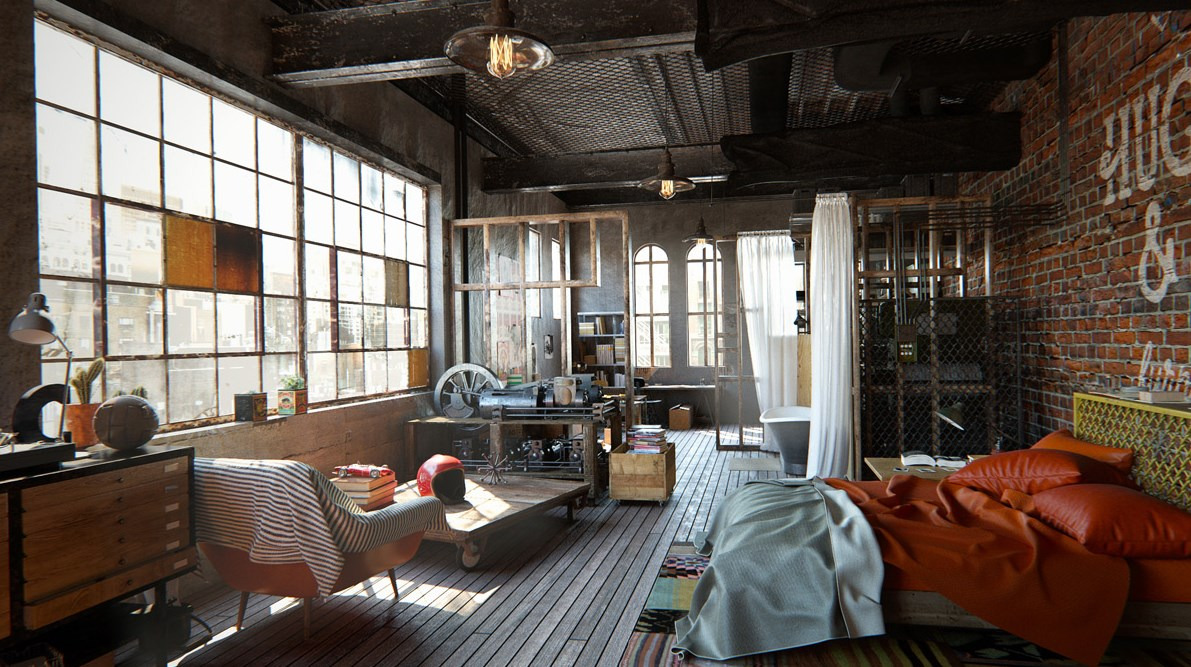 Modern Style House Design Ideas & Pictures: Industrial Style Bedroom on industrial loft design ideas, industrial table ideas, industrial restaurant design ideas, industrial home design ideas, industrial living ideas, industrial paint ideas, industrial chic design, modern industrial design ideas, industrial wedding design ideas, industrial entryway design ideas, industrial chandelier bedroom, industrial interior ideas, industrial dining ideas, industrial chic decor, industrial basement design ideas, industrial headboard designs, industrial bedroom style ideas, industrial garden ideas, industrial storage design ideas, industrial garage design ideas,
