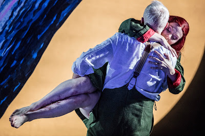 Anne Sophie Duprels as Rusalka and Peter Wedd as the prince. Scottish Opera 2016. Credit James Glossop