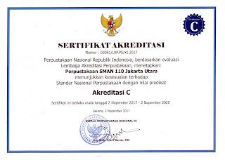 Akreditasi Perpustakaan 2017-2020 SMAN 110