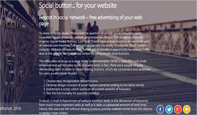 cara membuat social share botton horizontal