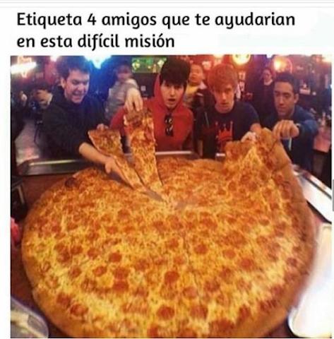 Imágenes divertidas para whatsapp pizza gigante