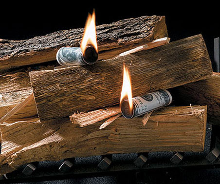 Look like a big money baller by starting firepits, barbeques, and campfires with fat stacks of money. These clever fire starters look like rolled up dollar bills, and are a great way to show off your wealth, status, and lack of modesty to everyone.