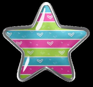 Clipart de Estrellas en Botón.