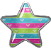 Free Printable Stars on a Bottom Clipart.