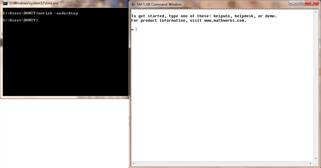 Digital iVision Labs!: Starting MATLAB without GUI through Command Prompt/LxTERMINAL, Useful When Remote Access is needed