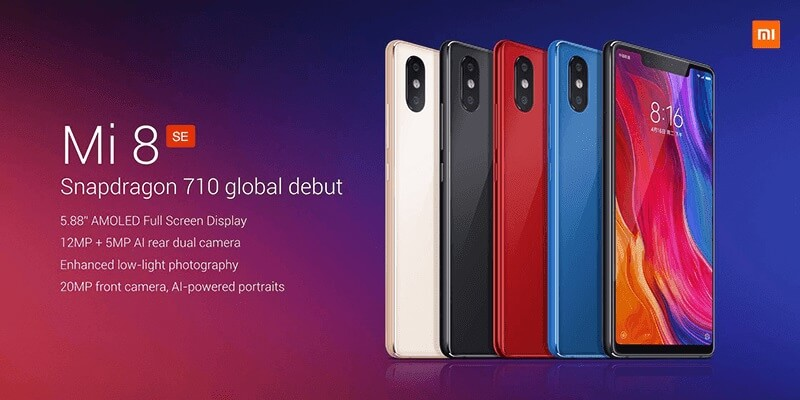 Xiaomi Mi 8 SE Unveiled; SD 710, up to 6GB RAM, and 20MP AI Front Snapper!