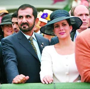 杜拜酋長謝赫-阿勒馬克圖姆和王妃哈雅。