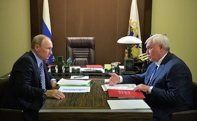 Working meeting with Governor of St. Petersburg Georgy Poltavchenko.
