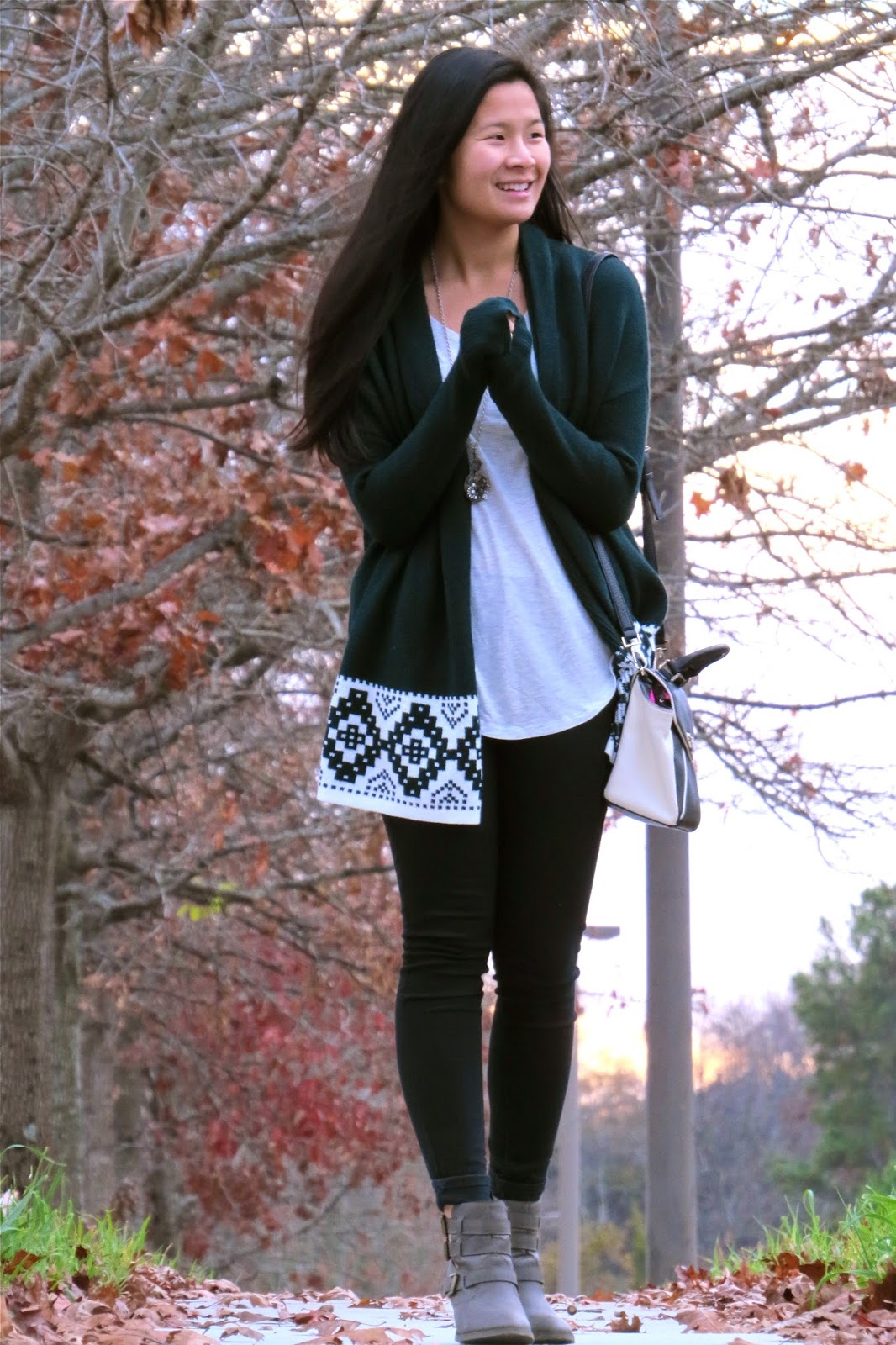 Styling_a_green_sweater