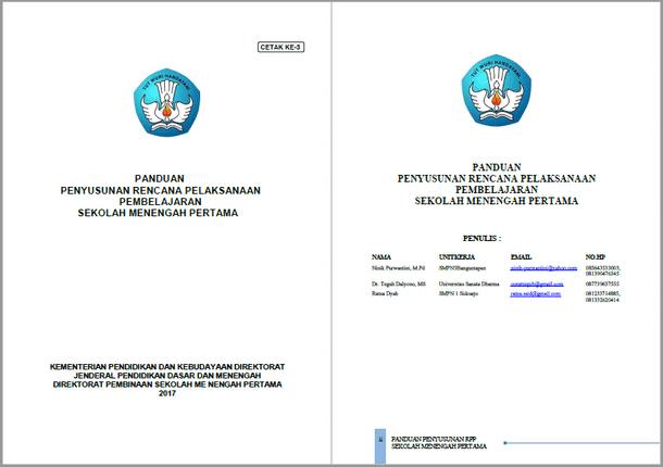 Panduan Penyusunan RPP SMP Sesuai Permendikbud Nomor 22 Tahun 2016