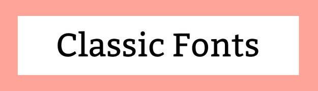 Classic Fonts Download