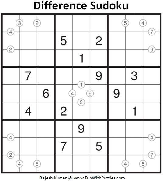 Difference Sudoku Puzzle (Daily Sudoku League #212)