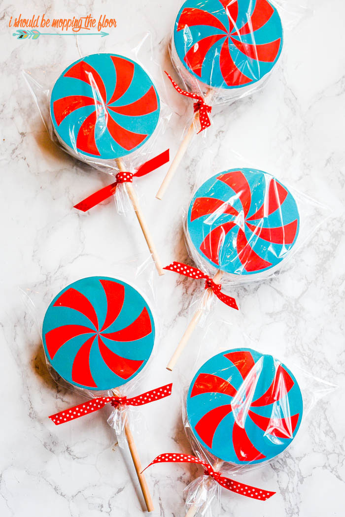 Free Printable Lollipop Christmas Ornaments