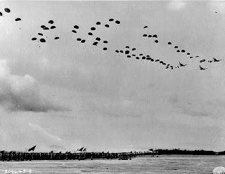 11th Airborne Division show at Lipa Airstrip, 1945. Photo credit:  US National Archives.