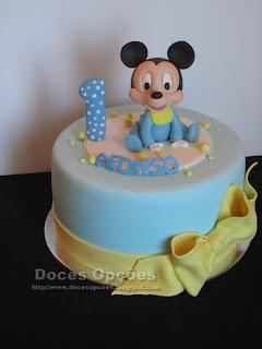 O bebé Mickey no 1º aniversário do Afonso