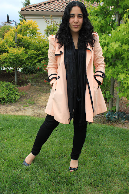 Orange Trench Coat All Black Outfit Inspiration