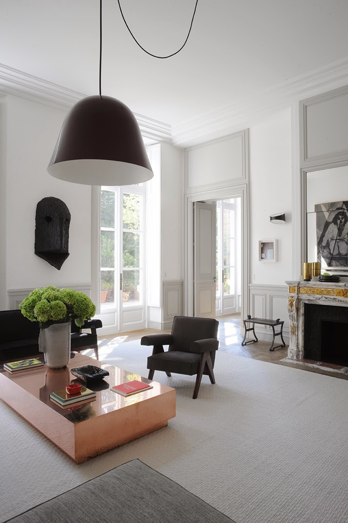 A Paris apartment designed living room by Joseph Dirand