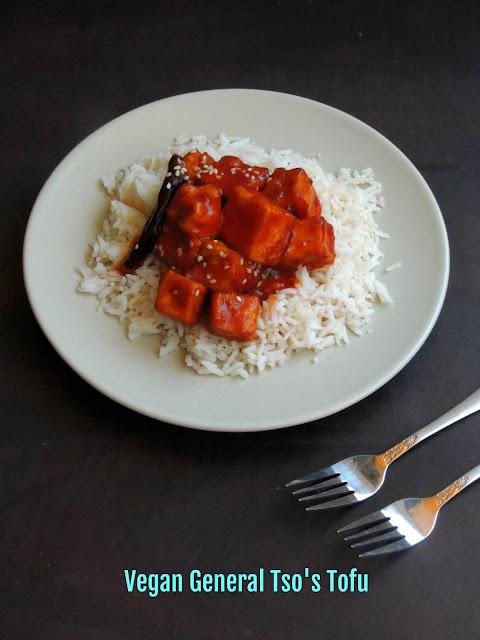 General Tso's Tofu, Vegan General Tso's Tofu,Vegan Tofu Kangjung