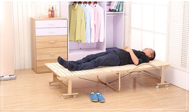 giường gấp đa năng bằng gỗ