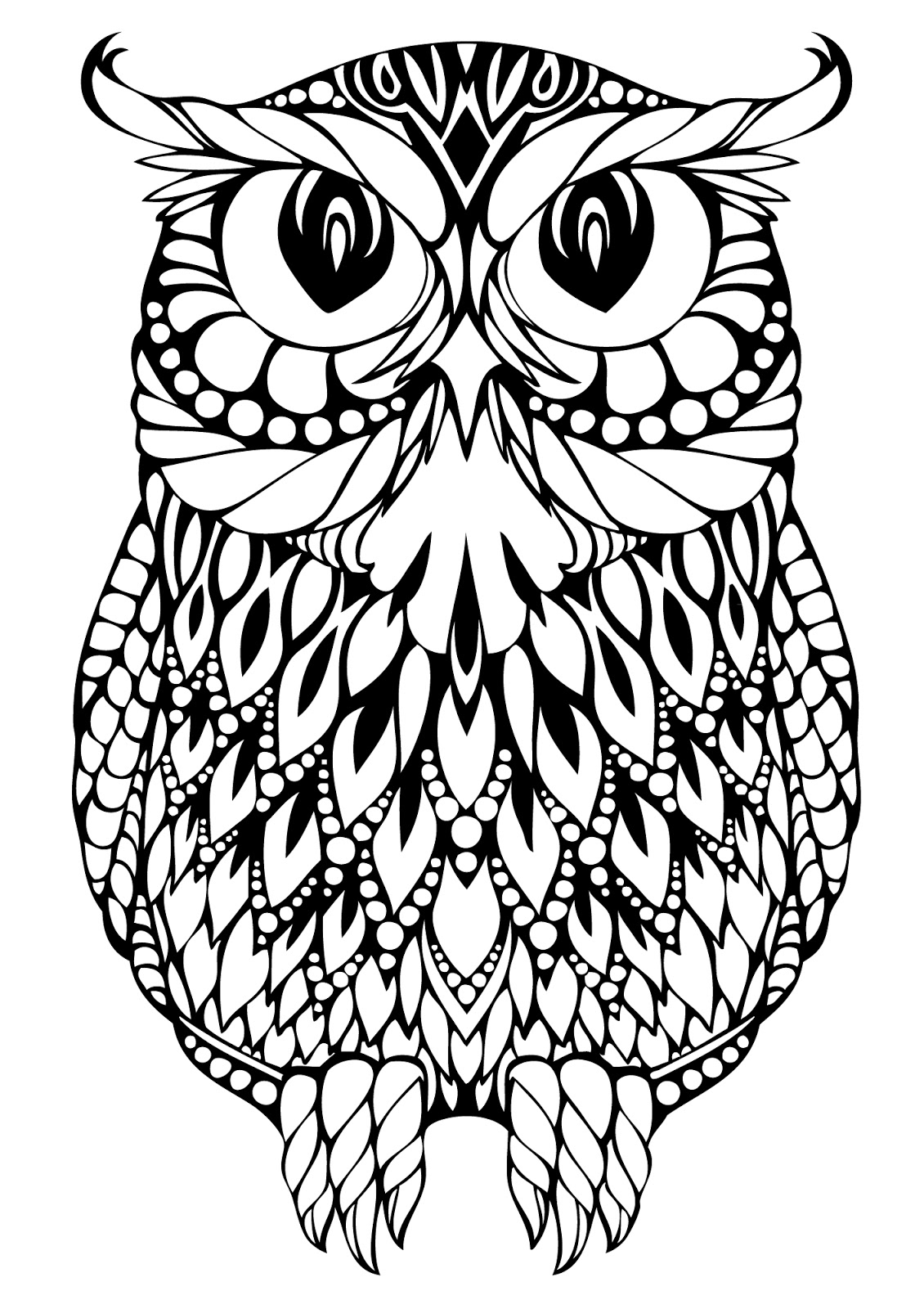 owl abstract coloring pages - photo#5