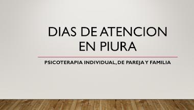 HORARIO DE ATENCION PSICOLOGICA EN PIURA