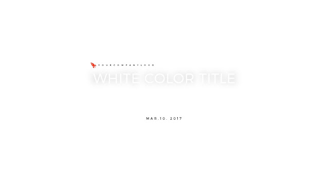 Cover of Presentation with white color title