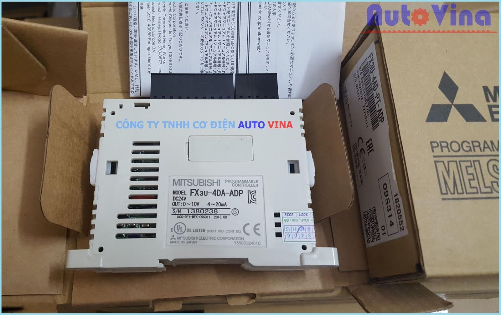Đại lý bán thiết bị tự động hóa PLC Mitsubishi Module FX3U-4DA-ADP hàng mới đầy đủ phụ kiện