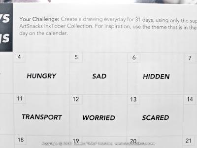 Inktober Prompts Calendar