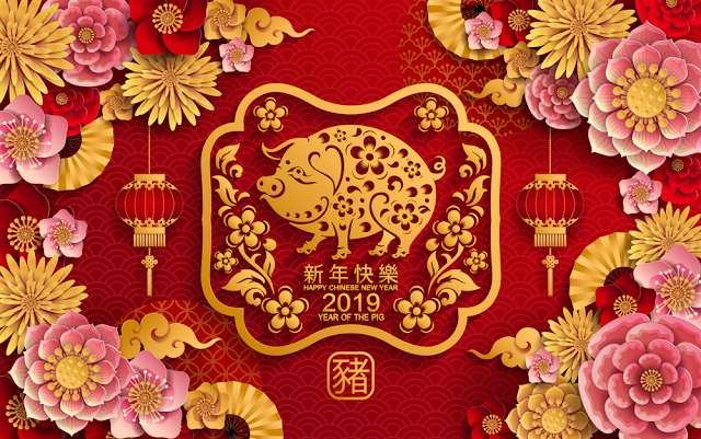 Chia sẻ hình ảnh, hình nền tết 2019 năm mới Kỷ Hợi | Year of Pig
