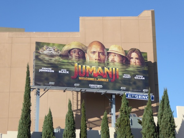 Jumanji Welcome to the Jungle movie billboard