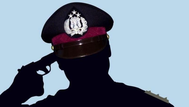 Ilustrasi polisi tembak kepala sendiri