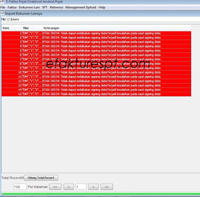Import Dokumen Lain Error ETAX-30034
