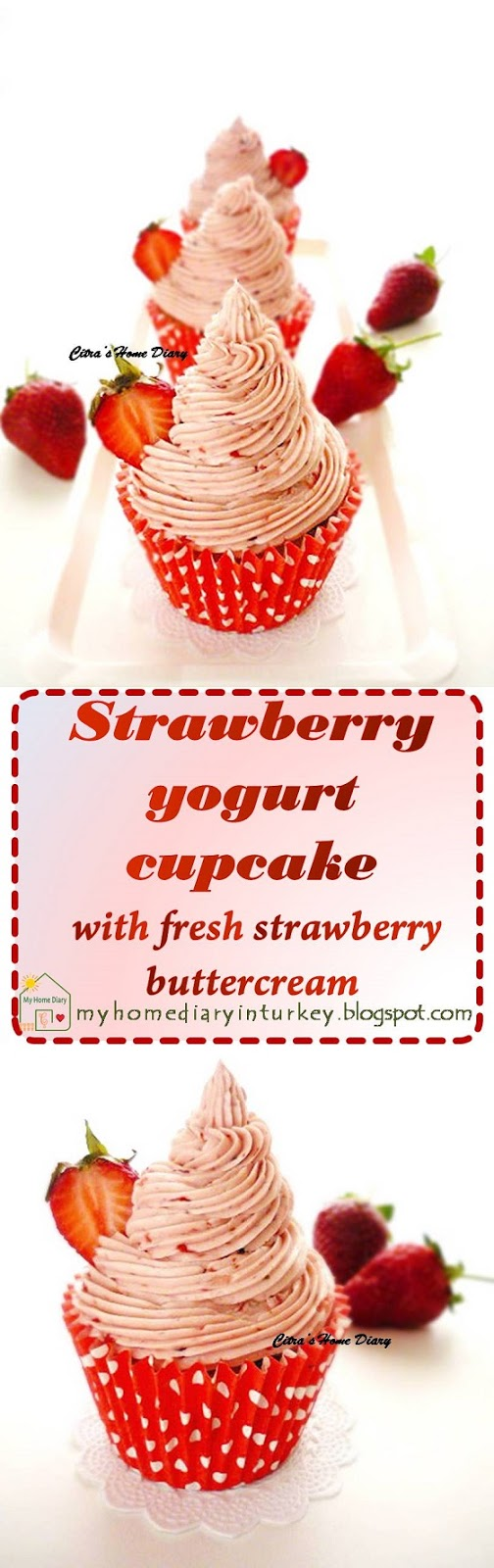 Strawberry yogurt cupcake with strawberry buttercream
