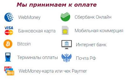 webmoney, сбербанк, терминалы, почта россии, банковская карта