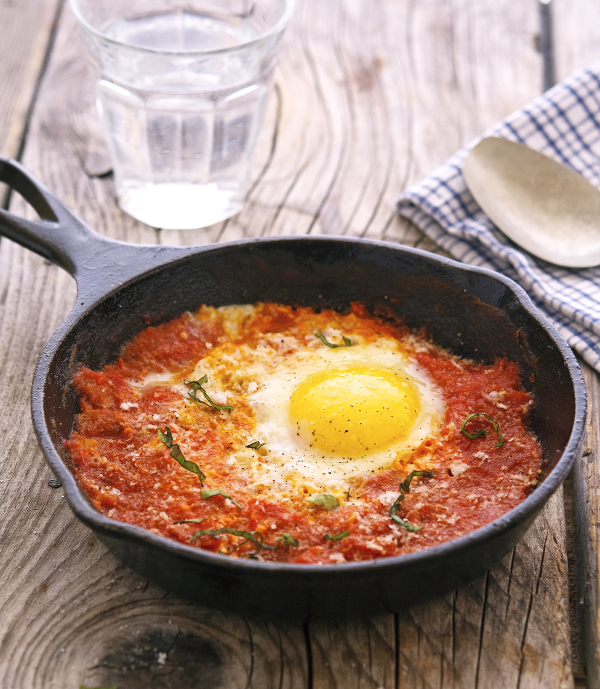 Eggs Poached In Marinara Sauce