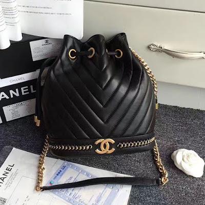 1666196f7a7c Chanel Lambskin Drawstring Bag A91885