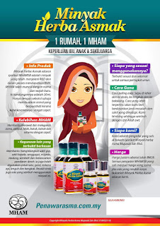 Minyak herba asmak, mham, penawar batuk, penawar asma, lelah, asma, ubat lelah, minyak herba asma mujarab original