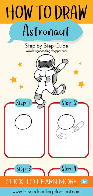 How To Draw Astronaut - Easy Step By Step Drawing Tutorial