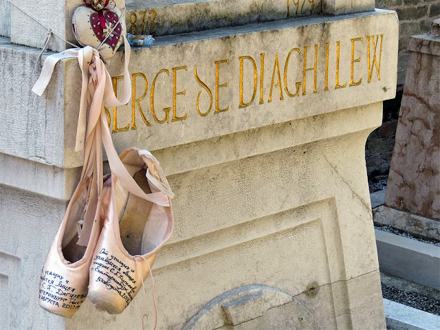 Detail of the tomb of Sergei Diaghilev, Серге́й Па́влович Дя́гилев, Isola di San Michele, Venice