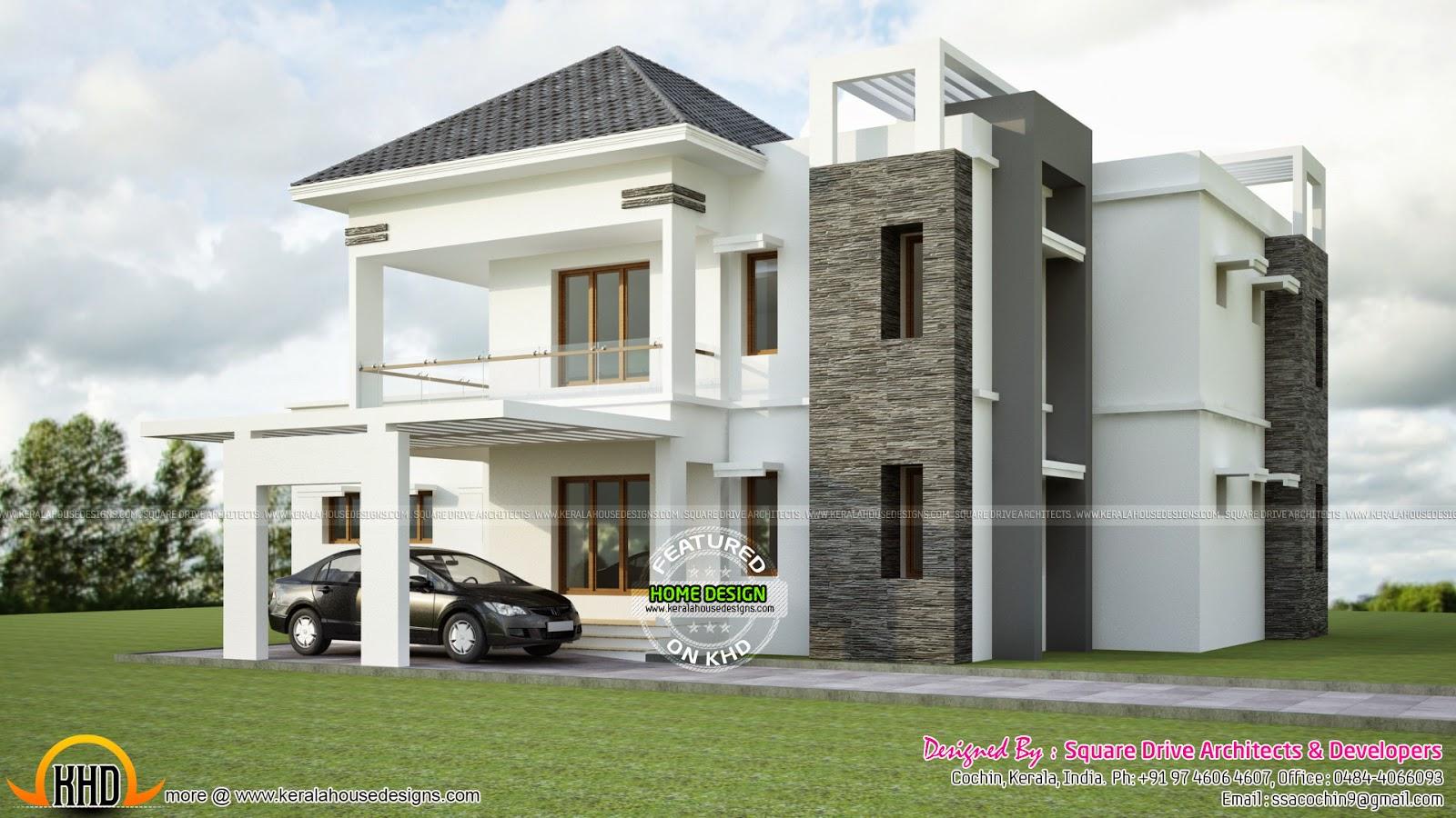 1828 Sq Ft Gujarat Home Design Keralahousedesigns