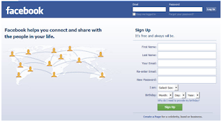 Facebook Login Welcome Page