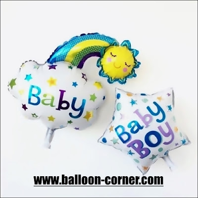 Balon Foil Baby Boy Rainbow