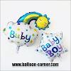 Balon Foil Baby Boy Rainbow & Foil Baby Girl Rainbow