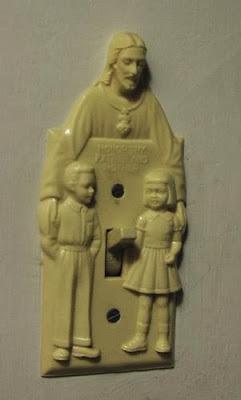 Awkward Jesus loves children light switch